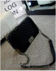 Women bag Chanel Boy Velour black