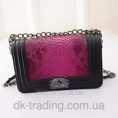 Bag female Chanel Chanel red rose Snake