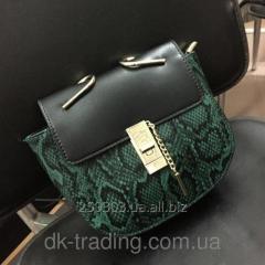 Women bag Chloe Snake green