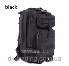 Tactical assault backpack of Abrams black