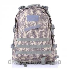 Army marching backpack of Bulat gray pixel