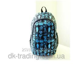 Backpack of city Adidas LaBel black blue