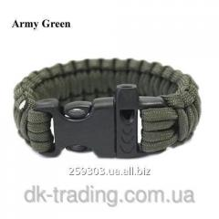 Bracelet of a survival of ParaCord army green