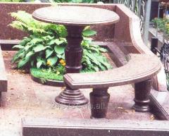 Комплект Стол и лавка из гранита
