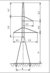 Анкерно-угловые опоры У110-1, У110-3.