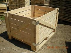 The container for storage of apples.