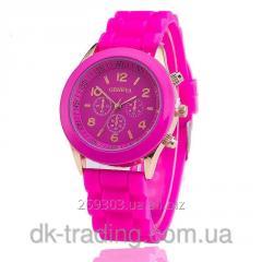 Female watch of Geneva pink