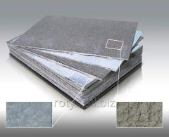 Cardboard basalt heat-insulating in a facing from