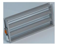 Повітряний алюмінієвий клапан з приводом від 100 х