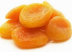 The dried apricots is dried