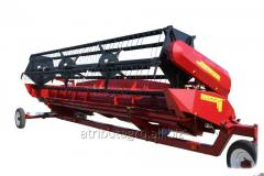 Harvester of Fleks for cleaning of soy on the