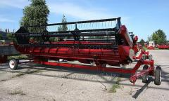 Harvester for FLEX soy cleaning.