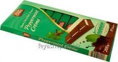 Шоколад Mister Choc черный мята-крем, 200 г