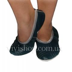 Flats from Jeans genuine leather