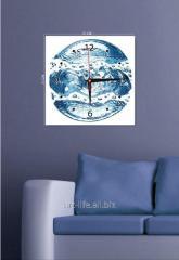 Picture hours 25х25, art. 3TC-090-W-2525