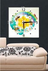 Picture hours 25х25, art. 3TC-092-W-2525