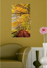 Stylish picture on a stretcher of 25 cm x 45 cm in