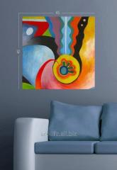 Stylish picture on a stretcher of 45 cm x 45 cm in