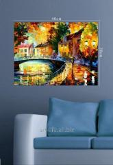 Stylish picture hours on a stretcher of 30 cm x 40