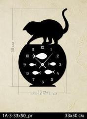 Stylish acrylic wall clock of 25x50 cm, art.