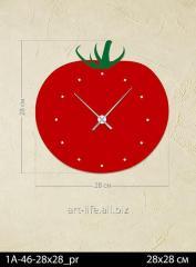 Stylish acrylic wall clock 28x28, art.