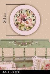 Stylish acrylic wall clock of 30х30 cm, art.