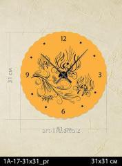 Stylish acrylic wall clock of 31x31 cm, art.