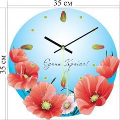 Stylish acrylic wall clock of 35x35 cm, art.