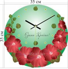 Стильные акриловые настенные часы 35x35 см, арт.