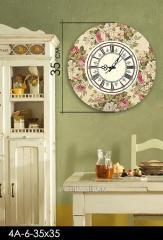 Stylish acrylic wall clock of 35х35 cm, art.