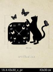 Stylish acrylic wall clock of 43x50 cm, art.