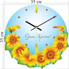 Stylish acrylic wall clock of 45x33 cm, art.