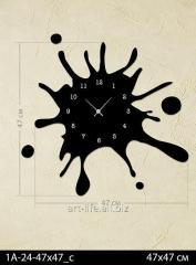 Stylish acrylic wall clock 47x47, art.