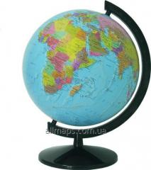 The globe of political 32 cm - varnished without