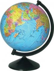 The globe of political 26 cm - varnished with