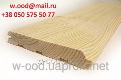 Imitation bar / false bar (pine) of 20 mm x 130 mm