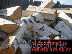 Firewood chipped of strong breeds of a tree (a