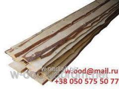Board semi-cut pine of 25 mm L=4,5; 6 m