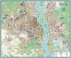 The wall map of Kiev to each house - 190х158 cm -