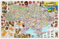 The wall illustrated Ukraine map of 110х80 cm;