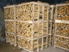 Firewood a hornbeam in pallets 1m*1m*2m