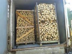 Firewood an oak in pallets 1m*1m*2m