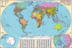 Настенная политическая карта мира 160х110 см; М1:22 000 000 - картон/на планках
