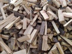 Firewood an ash-tree, firewood in bulk, in boxes,