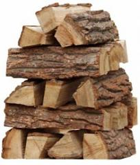 Oak firewood, the laid firewood, in boxes, shaf
