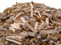 The death firewood in bulk laid in boxes