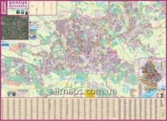 Card - Donetsk. Makiivka 135х97 cm of M 1:30 000