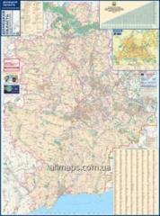 Card - Donetsk region 140kh100sm M 1:200 000