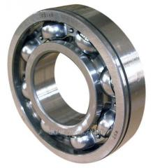 Bearings ball radial single-row with a flute on an