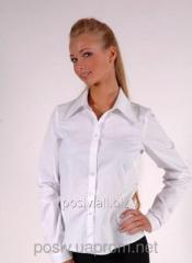Blouse with a long sleeve